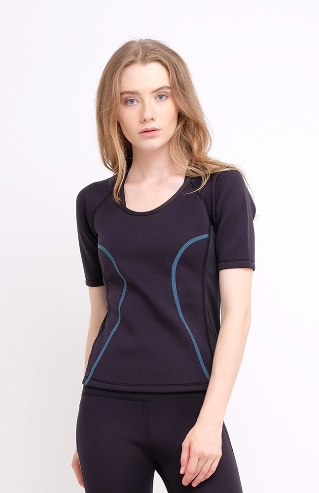 Picture of BIOCERAMICS SHORT SLEEVES TOP BLUE