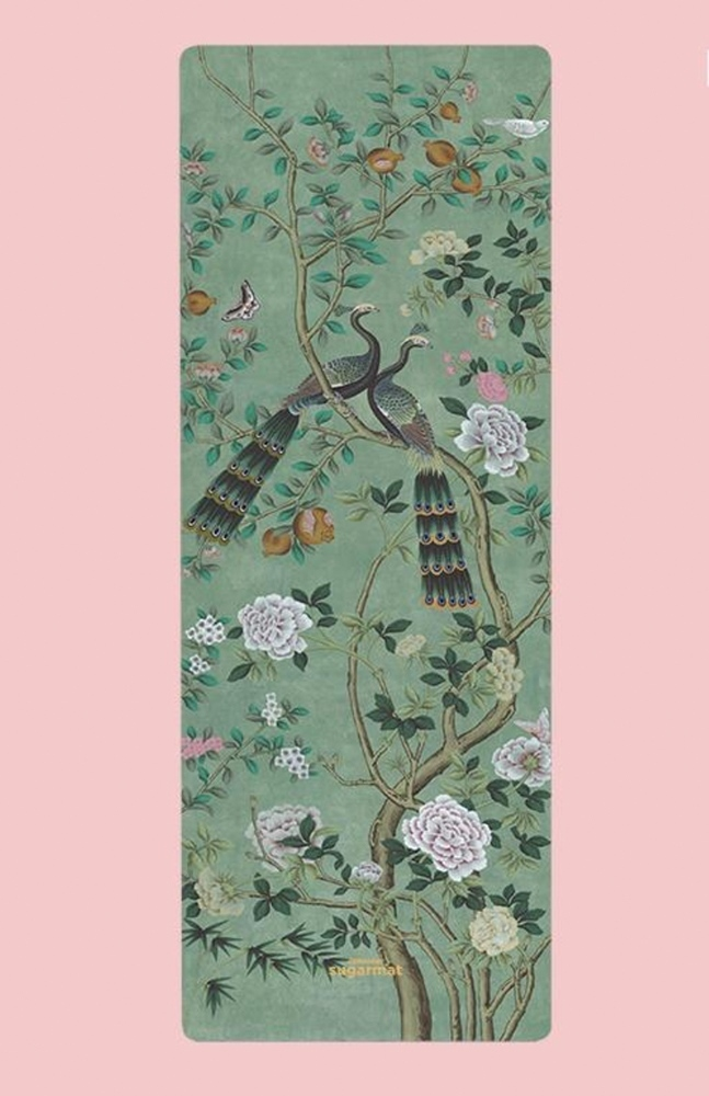 Picture of CHINOISERIE JADE PANEL - SUEDE YOGA MAT (3MM)